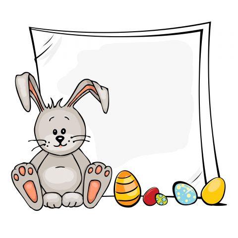Biglietto di Pasqua con coniglietto