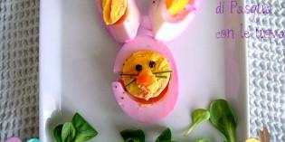 coniglietto pasquale con uova sode