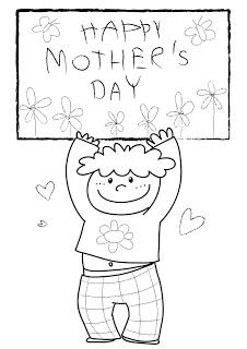 disegno con bimbo per la festa della mamma