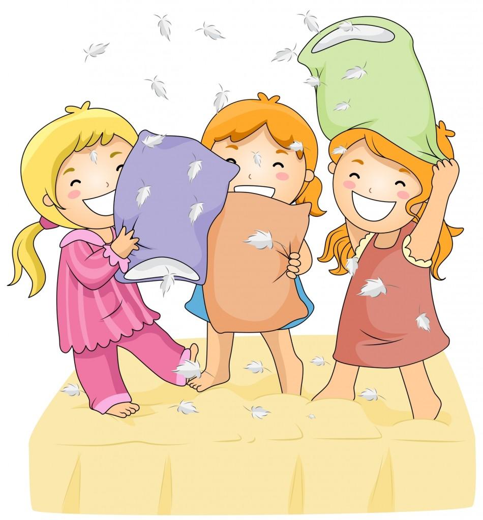 disegno bimbe pigiama party