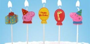 candeline per festa di compleanno peppa pig