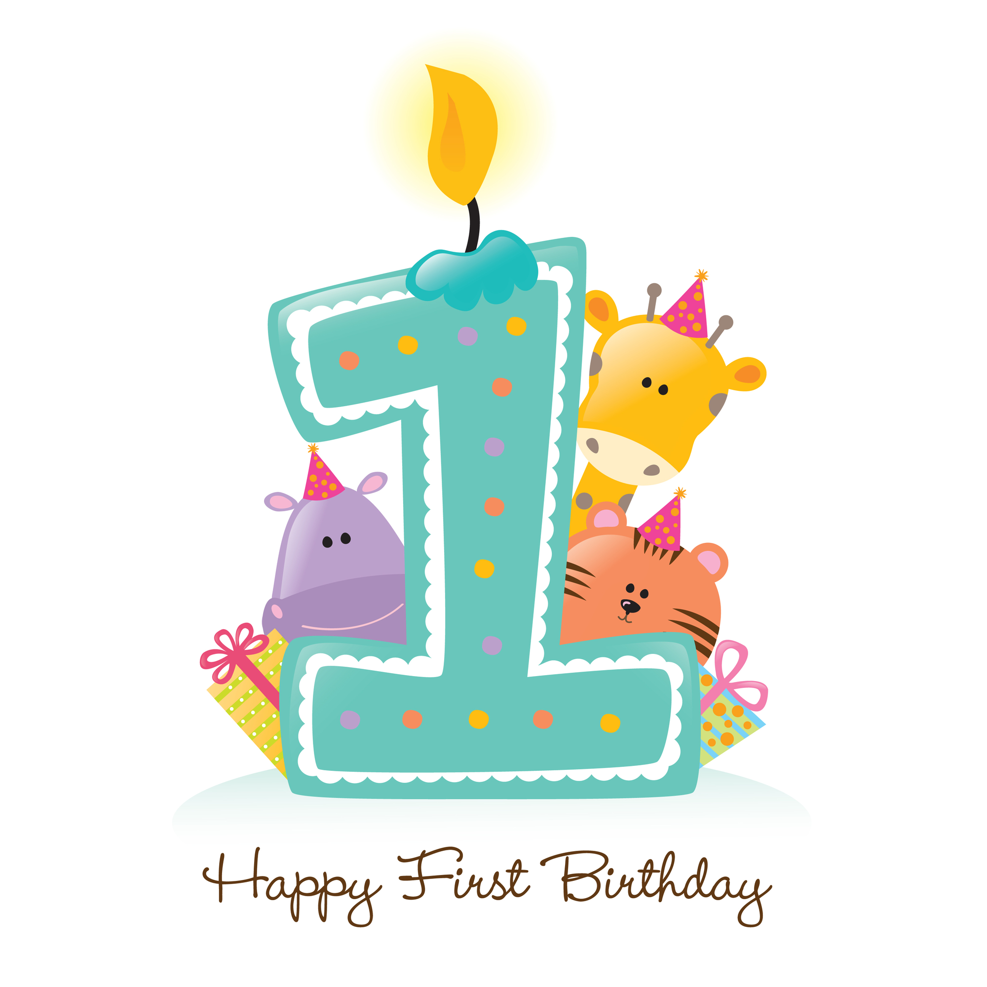Free First Birthday Clip Art Image Baby S First Birthday Birthday ...