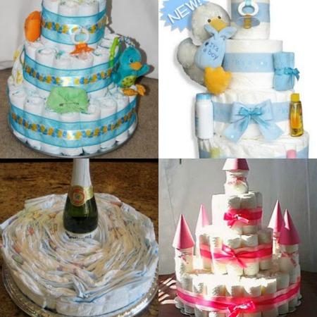 torte  di pannolini idee per realizzarle