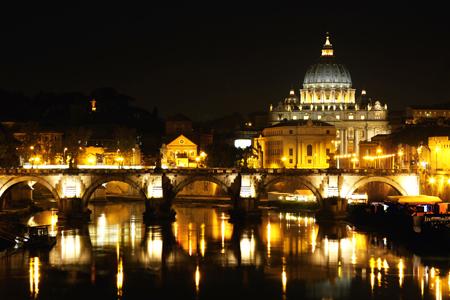 roma magica di notte