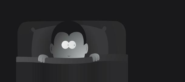 bambino al buio