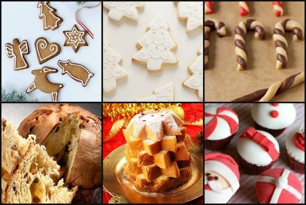 collage di dolci natalizi