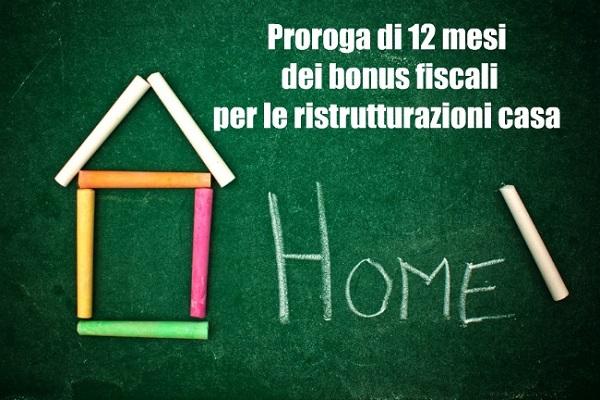 Bonus fiscali ristrutturazioni