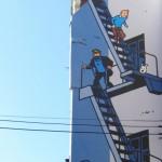 Murales con Tin Tin a Bruxelles