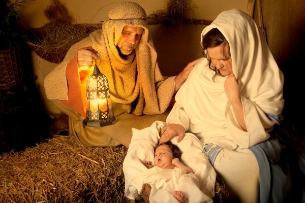 Maria, Giuseppe e Gesù Bambino