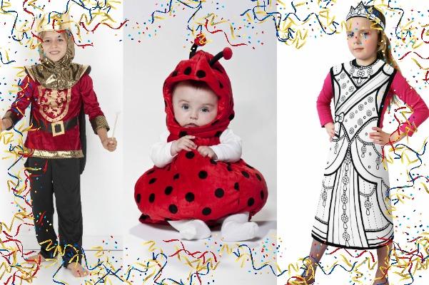 collage di costumi di carnevale