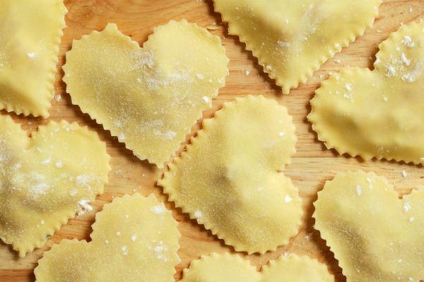 ricette per san valentino ravioli