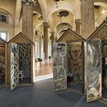 """Cabine di mare, installazione della mostra """"Scatole"""""""