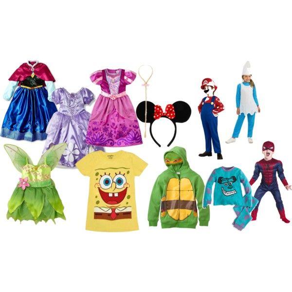 Costumi di carnevale i personaggi dei cartoni animati