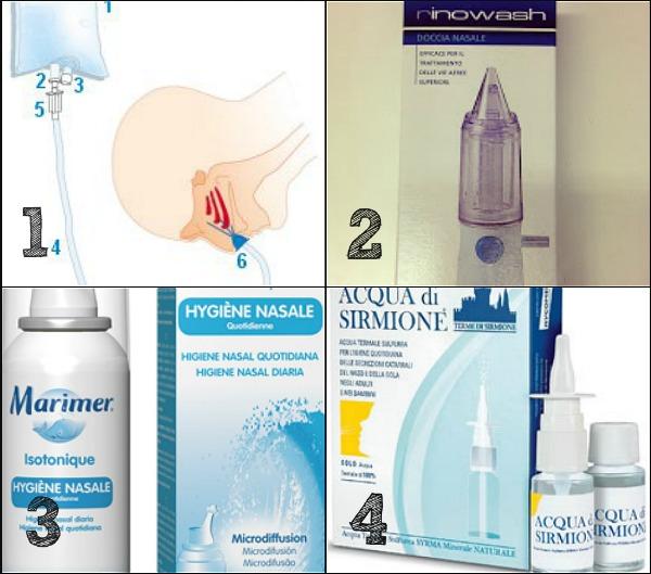 prodotti per i lavaggi nasali