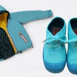 Celeste cielo per la giacca a due strati Canadian Classics e per le scarpe stringate Bensimon