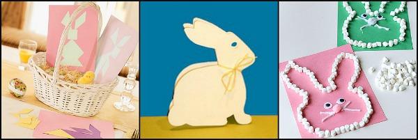 biglietti con coniglietti pasquali