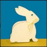 collage di biglietti di Pasqua con conigli