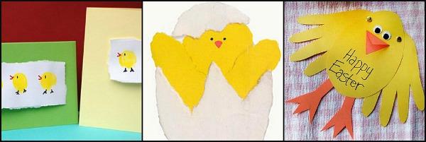 biglietti per Pasqua con pulcino