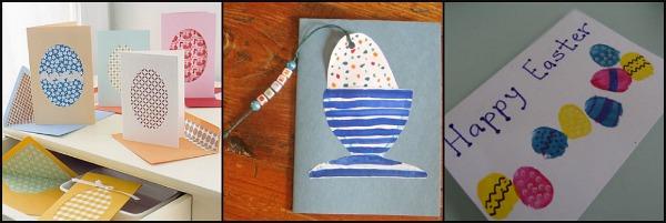 biglietti di Pasqua con uova