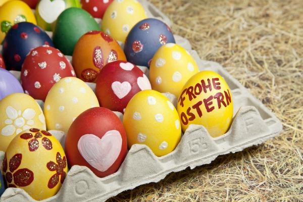 uova decorate per lavoretti di Pasqua