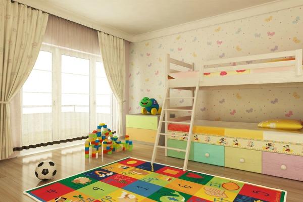 Idee per camerette bimbi cameretta per bambini fai da te - Tende per camerette neonati ...
