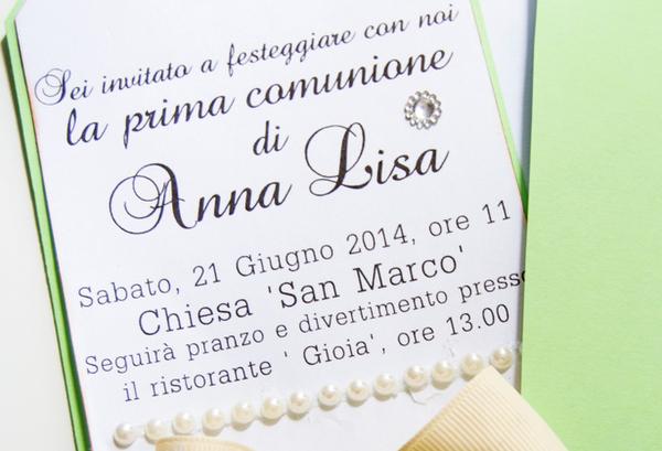 spesso biglietto d'invito Fai Da Te per Comunione : Blogmamma.it HD27