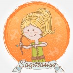 Illustration of Sagittarius zodiac sign