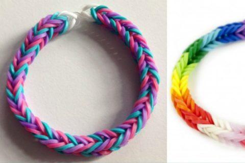 come fare i braccialetti con gli elastici