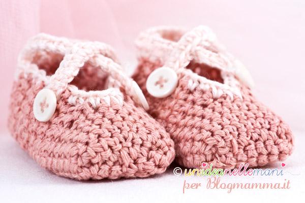 scarpine uncinetto neonati