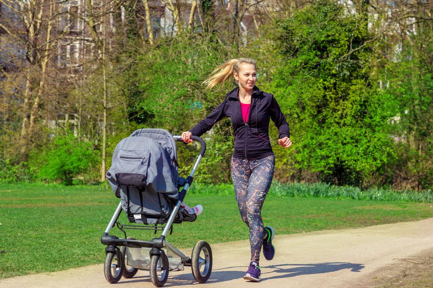 fitness con passeggino: come tenersi in forma