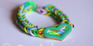 Un modo facile per creare braccialetti con gli elastici