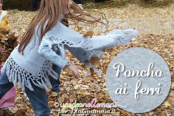 poncho a maglia per bambina