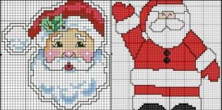 Punto croce per Natale: un po' di schemi