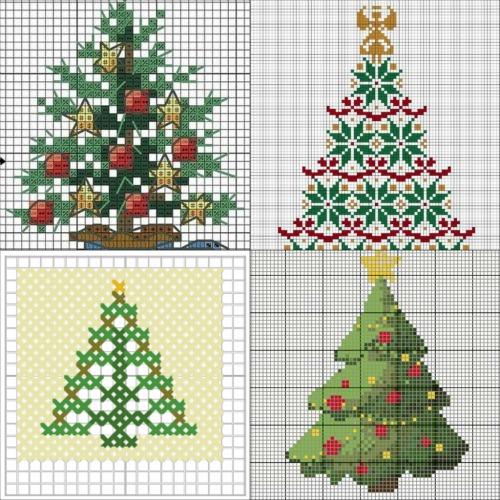 Punto croce per  Natale: gli schemi