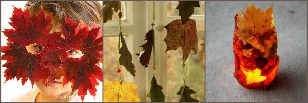lavoretti con le foglie d'autunno
