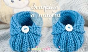 Scarpine a maglia facili per bambini