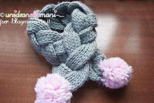 sciarpa ai ferri per bambini