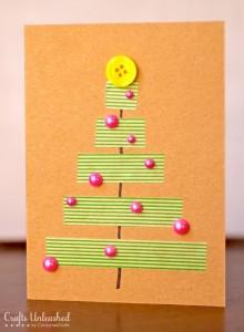 Pacchetti o biglietti di Natale con i washi tapes