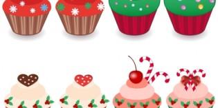 Decorare la tavola di Natale: centrotavola di cupcake