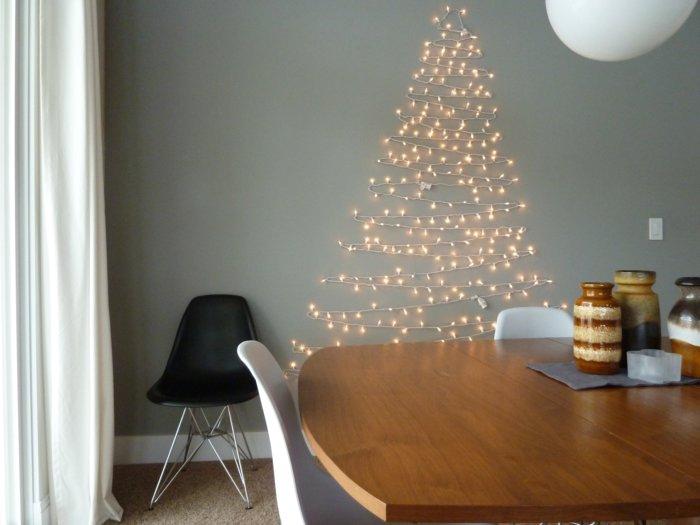 Decorazioni con luci di Natale