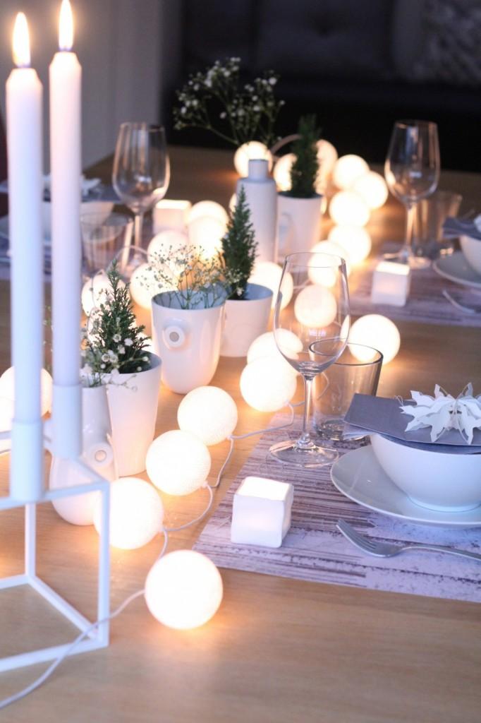 decorazioni con le luci di Natale