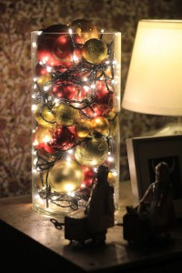 decorazioni di Natale con le luci