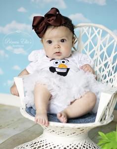 costume di carnevale da Olaf di frozen neonata