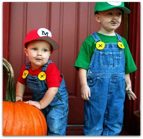 costume di carnevale fai da te per bambini: Mario Bros