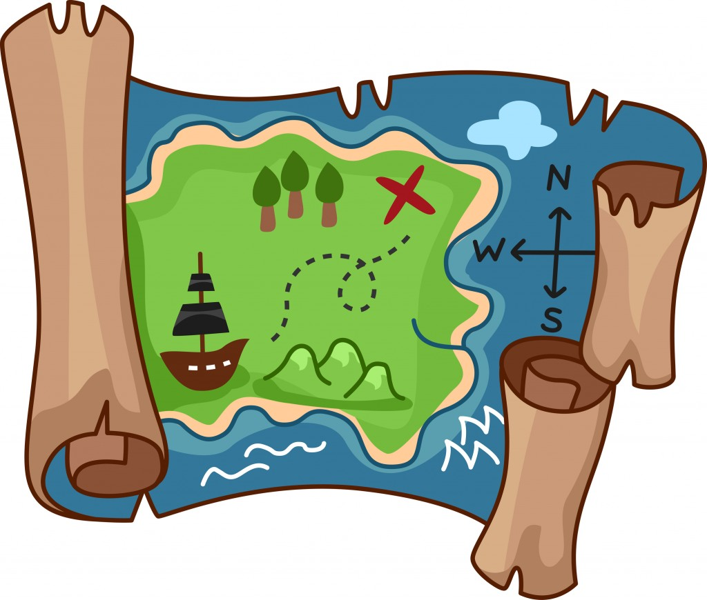 Giochi da fare in casa con i bambini_mappa per gioco caccia al tesoro