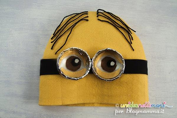 costume minion fai da te, cappello minion, fai da te