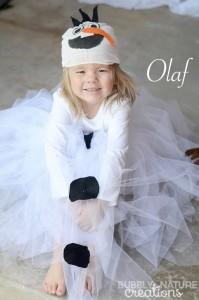 costume di carnevale da olaf di frozen fai da te bambina