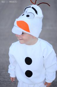 costume di carnevale da Olaf bambino fai da te