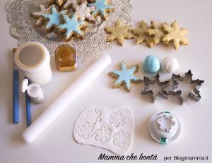 biscotti di frozen, decorazioni fiocco di neve