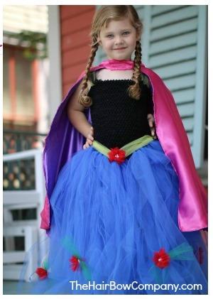 Costume di carnevale Principessa Anna di Frozen_gonna tutu